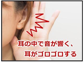 耳の中で音が響く