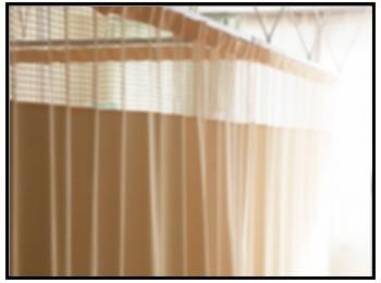 病室のカーテン写真