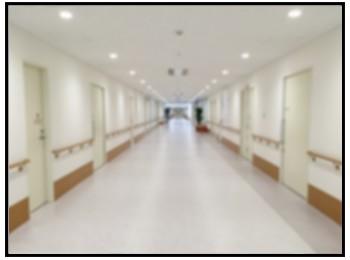 病院廊下の写真
