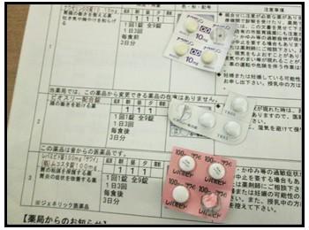 感染性胃腸炎の薬の画像