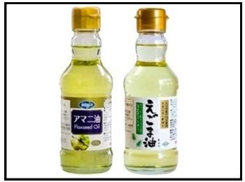 亜麻仁油とえごま油の画像