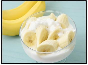バナナヨーグルトの画像