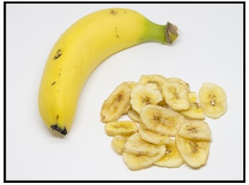 バナナチップスの画像