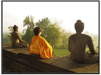 ブッダの瞑想の画像